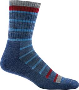 Darn Tough Via Ferrata Micro Crew Cushion Socks Blue - Medium | socks