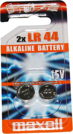 Maxell - Batteri - LR44 Alkaline 1,5v - 2 stk | Computer Battery and Charger