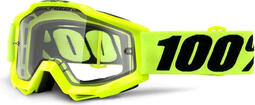100 Percent Accuri Enduro MTB Goggles Fluo Yellow/Clear Vent Dual Lens | cycling glasses