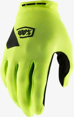 100% Ridecamp Race Gloves - Fluo Yellow | bike glove