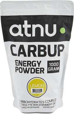 Atnu Carbup Energipulver - Lemon - 1000 gram | Energy drinks